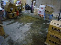 地下室からの湧水