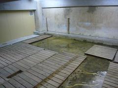 地下湧水対策前