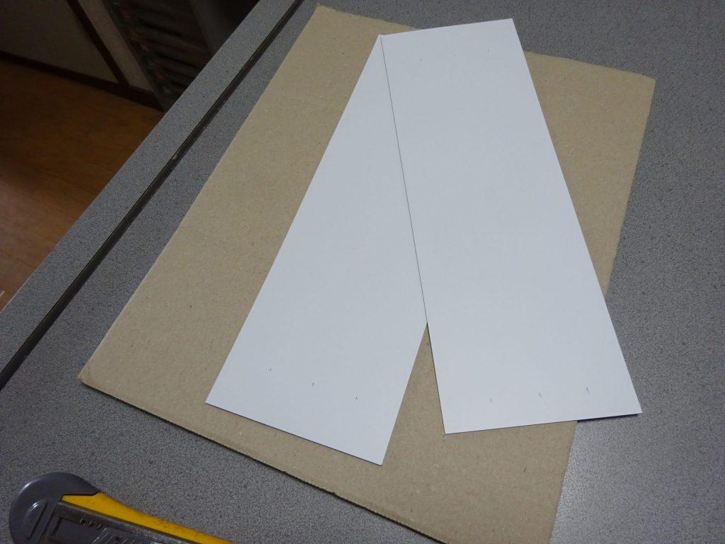 共用部掲示板用のマグネットを加工