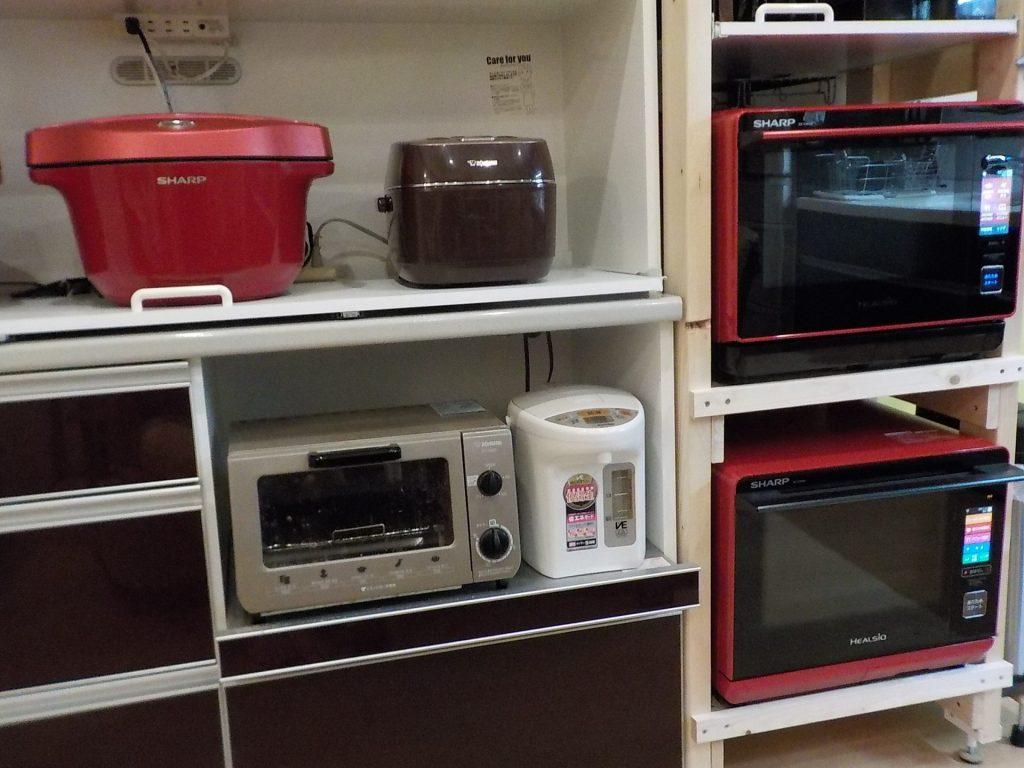キッチンの調理家電は増え続けています
